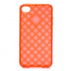 Protective TPU Back Case for Iphone 4 /4S - Transparent Red