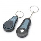 Electronic Key Finder Transmitter Receiver Keychain Set - Black (1 x CR1632 / 1 x CR2032)