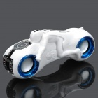 Cool Motorcycle Style MP3 Player Speaker w/ FM / USB / TF / 3.5mm Jack - White