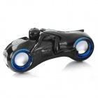 Cool Motorcycle Style MP3 Player Speaker w/ FM / USB / TF / 3.5mm Jack - Black
