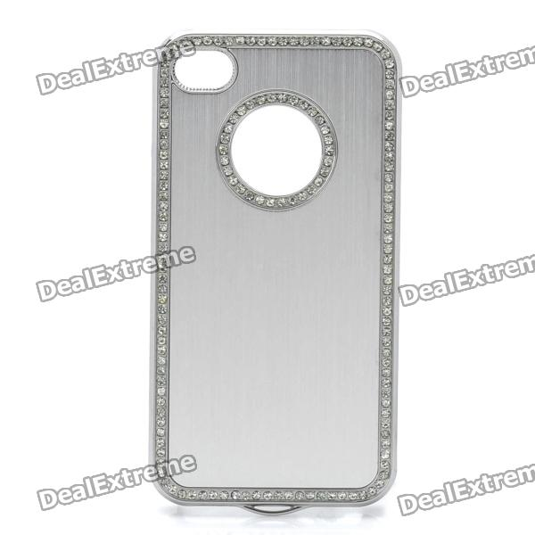 Protective Aluminum Alloy Back Case for Iphone 4 / 4S - Silver