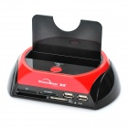 "Multi-Function USB 2.0 2.5""/3.5 SATA HDD Enclosure Docking with USB Hub/Card Reader/ESATA"