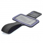 Sports Gym Arm Band Case for Samsung note/i9220/gt-n7000 - Black + Purple
