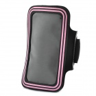 Sports Gym Arm Band Case for Samsung note/i9220/gt-n7000 - Black + Pink