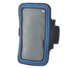 Sports Gym Arm Band Case for Samsung note/i9220/gt-n7000 - Black + Blue