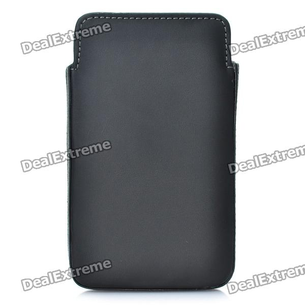 Protective Leather Case Pouch for Samsung Galaxy Note i9220/GT-N7000 - Black mhl docking station for samsung galaxy note i9220 black silver
