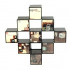 Stylish Magic Cube Container Box - Black