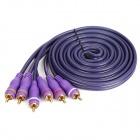 3 RCA Male to 3 RCA Male Audio Video Cable - Purple (2.0m)