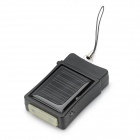 USB / Solar Powered 500mAh Battery Charger for iPhone 3G / 4 - Black