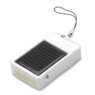USB / Solar Powered 500mAh Battery Charger for iPhone 3G / 4 - White