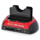 "2.5""/3.5"" IDE + SATA HDD to eSATA & USB 2.0 Docking Station w/ Card Reader"