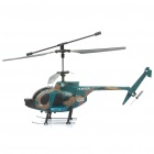 Rechargeable 3-CH R/C Helicopter w/ Gyroscope / Gun Toy - Camouflage Green