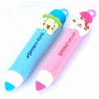 Unique Pencil Style Plush Fabric Pen Bag Pouches - Random Style (2-Pack)
