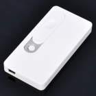 USB Rechargeable Electronic Cigarette Lighter w/ 1-LED Light - White
