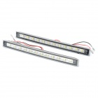 6W 12-LED 7500K 180LM White Light Daytime Running Lamps (DC 12V / Pair)
