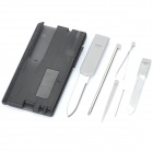 Multi-Function Card Style Tools Set w/ Thermometer (Random Color)