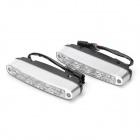 5W 7500K 180LM 5-LED White Light Daytime Running Lamps for Car (Pair/DC 12V)