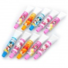 Cute Toothpaste Style Blue Ink Ballpoint Pens (Assorted Cartoon Pattern / 10-Pen)
