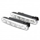 5W 5-LED 7500K 180LM White Light Daytime Running Lamps (DC 12V / Pair)