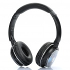Rechargeable MP3 Player Stereo Headphone with FM / 3.5mm Audio / TF Slot - Black