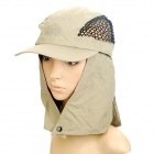 Fishing Cap/Hat with Detachable Back Cover - Khaki