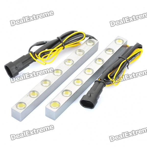 14W 6700K 12000MCD 7-LED White Light Car Daytime Running Lamps (DC 12V / Pair) nokia 6700 classic illuvial