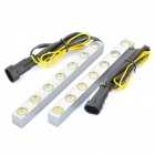 14W 6700K 12000MCD 7-LED White Light Car Daytime Running Lamps (DC 12V / Pair)