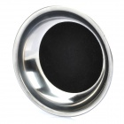 Party Magic Coin en Herramienta Glass Dish Trick Magician - Plata + Negro