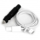 2-in-1 Car and Airplane Power Adapter Cable for Apple Laptop - Black + White(135cm)