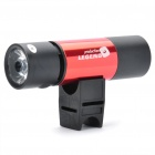 Multi-Function Rechargeable 1W 130lm 5-Mode 1-LED-Taschenlampe w / MP3 Player Speaker / TF Slot - Red