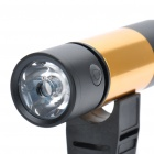 Multi-Function Rechargeable 1W 130LM 5-Mode 1-LED Flashlight w/ MP3 Player Speaker / TF Slot- Golden