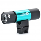 Multi-Function Rechargeable 1W 130LM 5-Mode 1-LED Flashlight w/ MP3 Player Speaker / TF Slot - Green