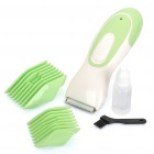 Rechargeable Children Baby Hair Clipper Trimmer with Accessories - Green + White
