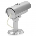Realistic Dummy Surveillance Security Camera w/ Blinking Red LED - Silver (2 x AAA)