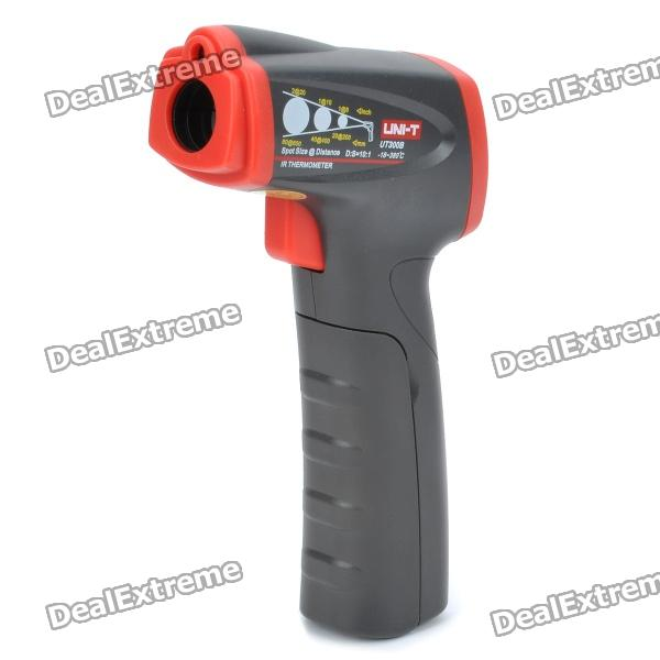"UT300B 1.1"" LCD IR Infrared Thermometer - Red + Black (1 x 9V 6FF22 Battery)"