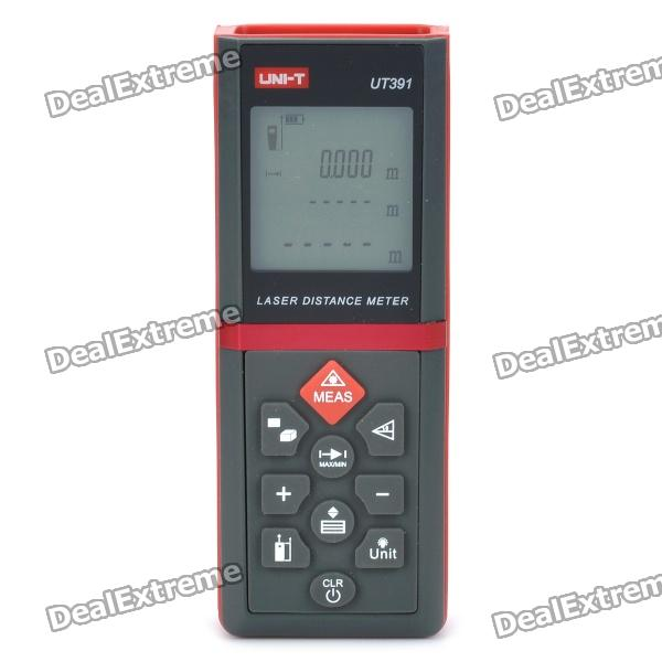 "UT391 1.8"" LCD Laser Distance Meter - Black + Red (2 x AAA)"