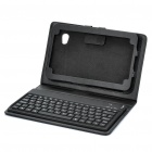 Bluetooth Keyboard with Folding Leather Case for 7