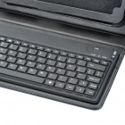 "Bluetooth Keyboard with Folding Leather Case for 7"" Tablet - Black"