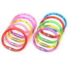 Novelty 2-in-1 Bracelet Design Ballpoint Pen - Random Color (10-Piece Pack)