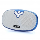 Portable Rechargeable MP3 Player Music Speaker w/ TF / USB / AUX - Blue
