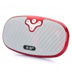 Portable Rechargeable MP3 Player Music Speaker w/ TF / USB / AUX - Red