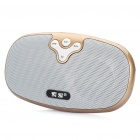 Portable Rechargeable MP3 Player Music Speaker w/ TF / USB / AUX - Champagne Gold