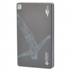 "USB 2.0 Hard Disk Drive Enclosure External Case for 2.5"" SATA HDD - Black + Coffee"