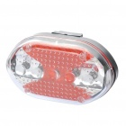 3-Mode 1-LED White Head Light + 7-Mode 5-LED Punainen Takavalo Set (3 x AAA / 2 x AAA)
