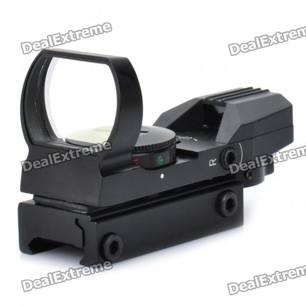 1X 33mm 4-Modo vermelho / verde Laser Sight Rifle Scope (1 x CR2032)