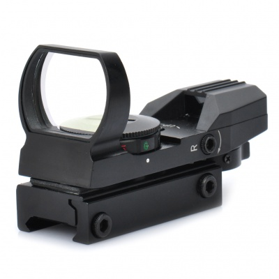 1X 33mm 4-Mode Red / Green Laser Sight Rifle Scope (1 x CR2032)