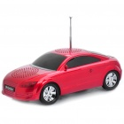 Car Style MP3 Player Speaker w/ FM / TF - Red