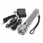 Solar / AC / Car Powered 1W1-LED 80-Lumen 1-Mode White LED Flashlight