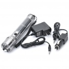 AC / Car Charger / Solar Rechargeable 1W 6500K 60-Lumen 1-Mode White LED Flashlight - Silver