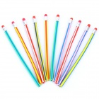 Colorful Magic Flexible Soft Pencil with Eraser - Random Color (10-Piece Pack)
